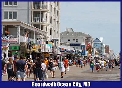 Boardwalk Ocean City Md Art Print