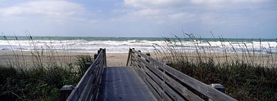Boardwalk On The Beach, Nokomis Art Print by Panoramic Images