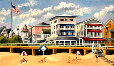 Painting - Boardwalk On The Jersey Shore by Madeline Lovallo