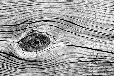 Photograph - Boardwalk Patterns 5 Bw by Mary Bedy