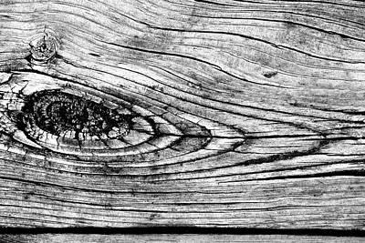 Photograph - Boardwalk Patterns 8 Bw by Mary Bedy