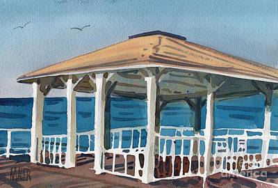 Boardwalk Painting - Boardwalk Pavillion by Donald Maier