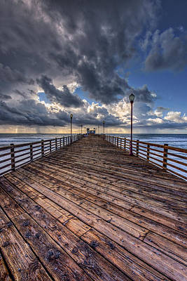Oceanside Pier Photograph - Boardwalk by Peter Tellone