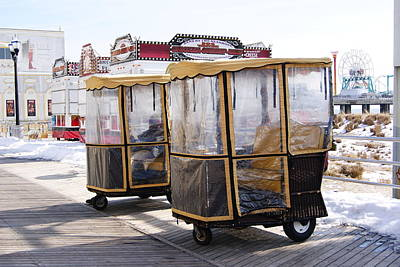Photograph - Boardwalk Push Carts Of Atlantic City  by Margie Avellino