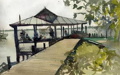 Painting - Boardwalk Sarasota by Gaston McKenzie