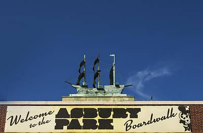 Photograph - Boardwalk Sign Asbury Park by Elsa Marie Santoro