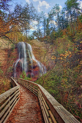 Photograph - Boardwalk - Smith Falls - Nebraska by Nikolyn McDonald
