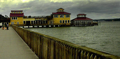 Photograph - Boardwalk Solomon's Island Md by James C Thomas
