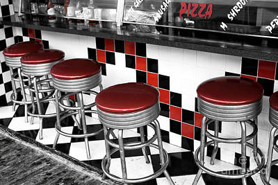 Photograph - Boardwalk Stool Fusion by John Rizzuto