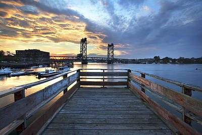 Prescott Park Photograph - Boardwalk Sunset by Eric Gendron