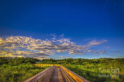 Park Scene Photograph - Boardwalk Sunset by Marvin Spates