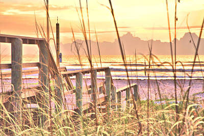 Photograph - Boardwalk To An Atlantic Sunrise by Gordon Elwell