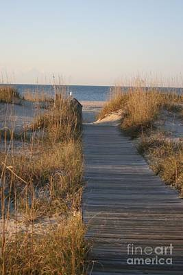 Outerspace Patenets Rights Managed Images - Boardwalk to the Beach Royalty-Free Image by Nadine Rippelmeyer