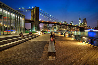 Boardwalk View At Brooklyn Bridge Park Art Print by Daniel Portalatin