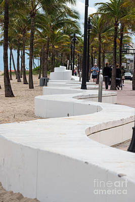 Photograph - Boardwalk Wall In Ft Lauderdale by Les Palenik