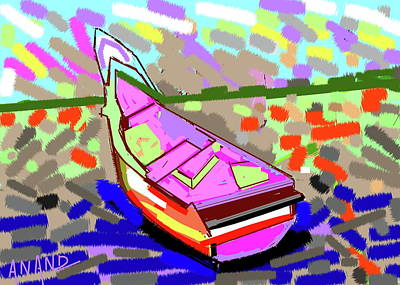 Digital Art - Boat-a by Anand Swaroop Manchiraju