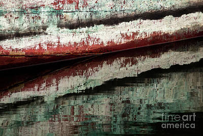 Photograph - Boat Abstract Reflection by Sonya Lang
