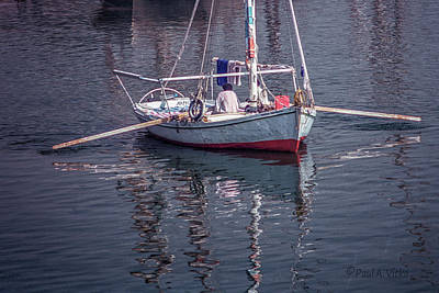 Photograph - boat afloat on Nile river.... by Paul Vitko