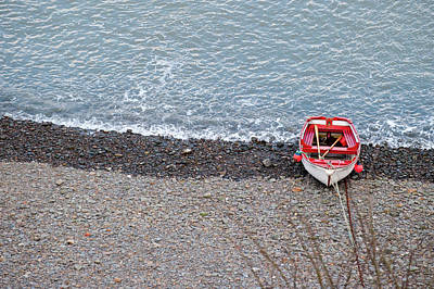 Photograph - Boat And Beach From Above by Helen Northcott