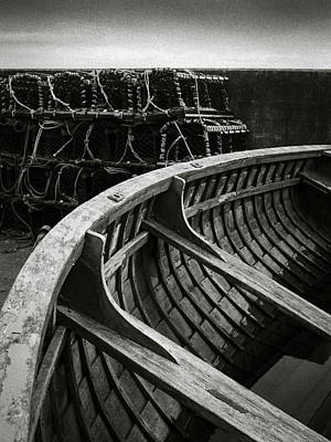 Photograph - Boat And Creel Nets by Dave Bowman