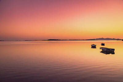 Photograph - Boat And Island by Emilio Messina