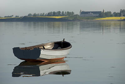 Boat And Reflection Art Print by Robert Lacy