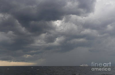 Boat And Storm Art Print by Colin Woods