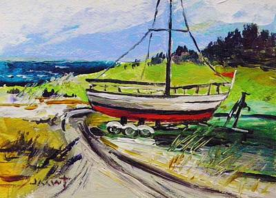Painting - Boat And Trailer by John Williams