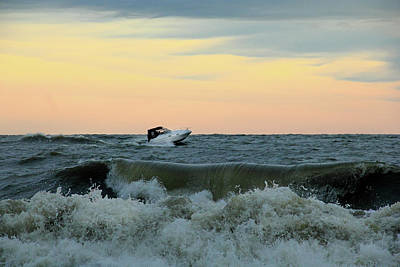 Photograph - Boat And Waves by Angela Murdock