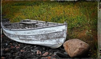 Boat Art - Washed Ashore - By Sharon Cummings Art Print
