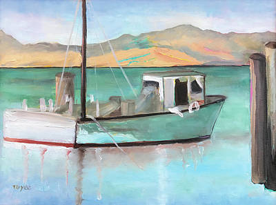 Painting - Boat At China Camp State Park by Tai Yee