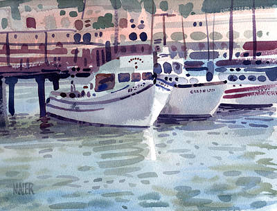 Painting - Boat At Fisherman's Wharf by Donald Maier