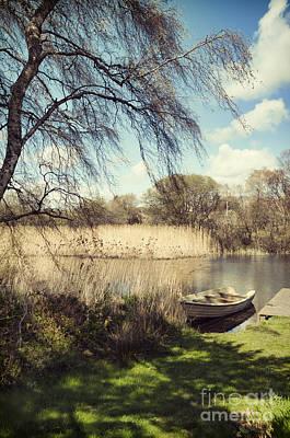 Llyn Padarn Photograph - Boat At Llyn Padarn by Amanda Elwell