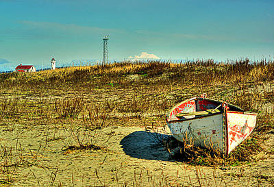 Boat At Point Wilson Art Print by Dale Stillman