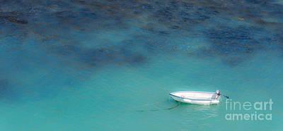 Boat At Port Isaac Print by Amanda Elwell