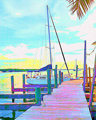 Florida Flowers Mixed Media - Boat At Sunset I by Chris Andruskiewicz