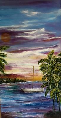 Anchored At Sunset Lagoon  Original