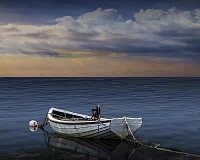 Photograph - Boat At Sunset by Randall Nyhof