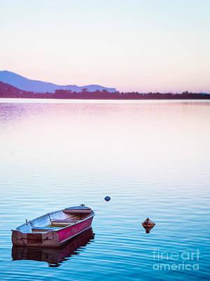 Photograph - Boat At Sunset by Silvia Ganora