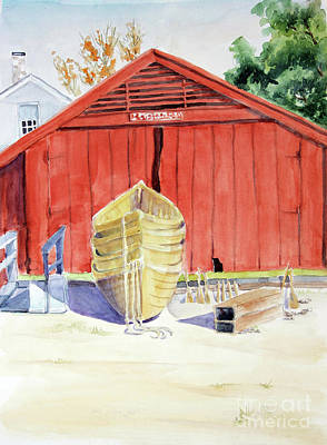 Painting - Boat Barn by Carole DiTerlizzi