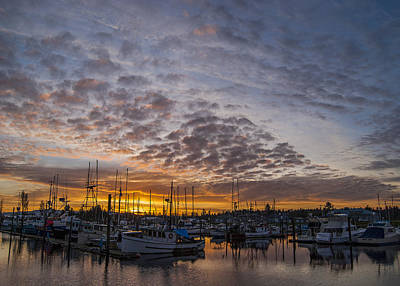 Photograph - Boat Basin Sunrise by Robert Potts