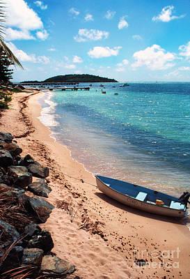 Boat Beach Vieques Art Print by Thomas R Fletcher