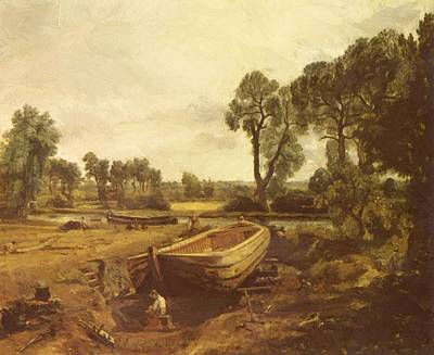 Painting - Boat Building 1815 by Constable John