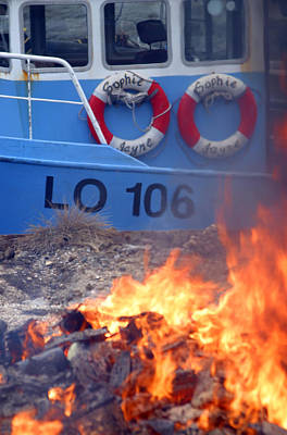 Photograph - Boat Burning by Jez C Self
