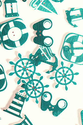 Boat Button Harbour Art Print