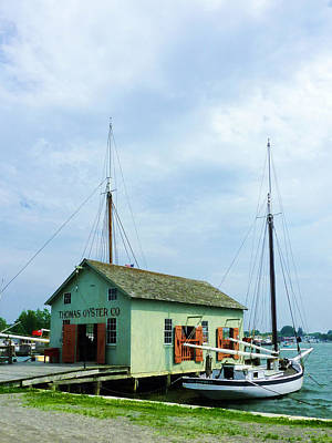 Art Print featuring the photograph Boat By Oyster Shack by Susan Savad