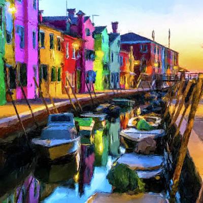 Digital Art - Boat Canal by Gary Grayson