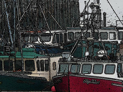 Boat City 2 Original by Roger Charlebois