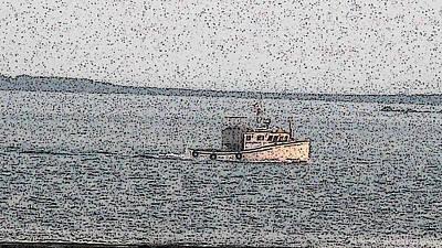 Boat City  Art Print by Roger Charlebois