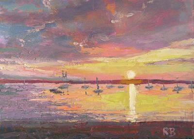 Boat Curtain Art Print by Robie Benve